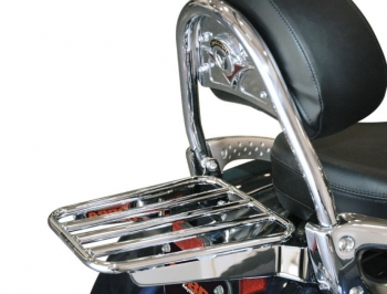 Luggage Rack Round for OEM backrest - Vulcan 1700 Nomad