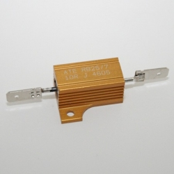 Resistor for indicator with halogenbulb, 10 Ohm, 25 Watt