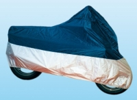 Motorcycle Cover, Size M, Polyester, blue/silver