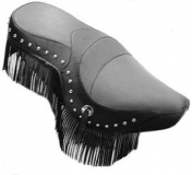 Studded + Fringed Seat Cover with Conchos - 800 + 1500 Drifter