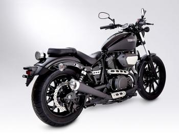 vn miller avenger x exhaust system yamaha xv 950 r bolt. Black Bedroom Furniture Sets. Home Design Ideas