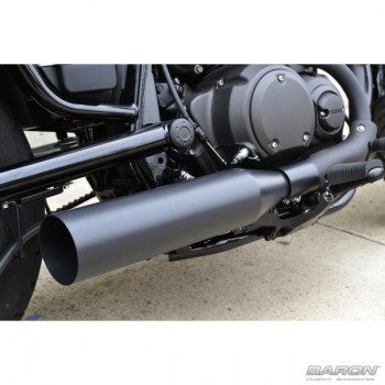 Black Muffler - Straight - Yamaha Bolt