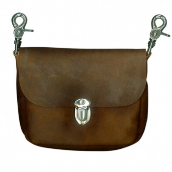 Brown Leather Clip Pouch