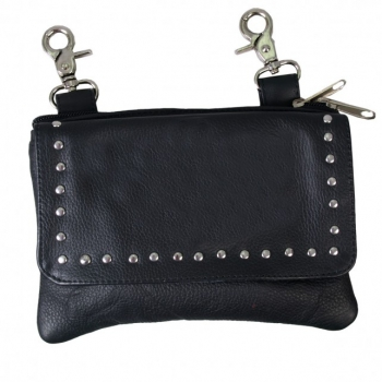 Ladies Magnetic Clip Pouch with Studs