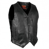NewMen's Leather Vest
