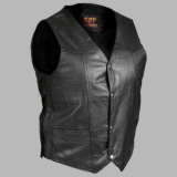 Heavyweight  Men's Leather Vest with Side Lace